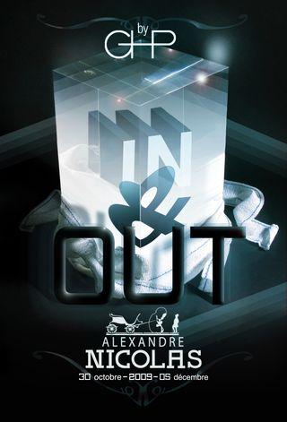 leafette de l'exposition In & Out by l'atelier graphique